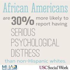 African Americans are less likely to seek treatment for their mental disorders compared to whites. Among the reasons are economics and stigma. This Mental Health Awareness Month 2013 campaign is brought to you by USC School of Social Work and MHA.