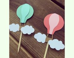Hot Air Balloon Cupcake toppers