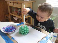 Sponge Printing Toddler Art