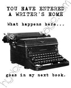 Writer's Home Vintage Typewriter Print with White Background (8x10). $15.00, via Etsy.