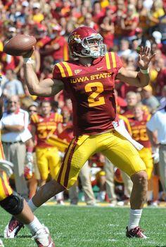 Iowa State quarterback Steele Jantz. Photo by Ames Tribune.