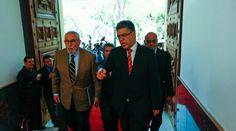 Aveledo, Barboza y Falcón llegaron a la Casa Amarilla para reunión con Maduro