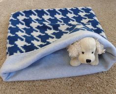 Pet Sleeping Bag Snuggle Sack Cuddle Dog Gray Blue Cat by PawPets