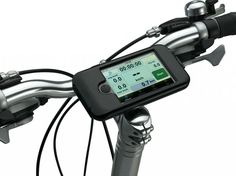 BikeConsole smart phone mount for bikes -- use your distance trackers and playlist safely!