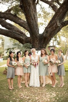 Pink and green in a fall wedding. Found on Weddingbee.com Share your inspiration today!