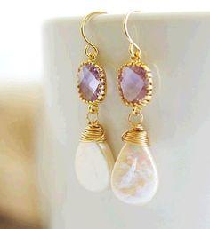 Pearl Earrings Bezel Set Earrings Bridal Earrings by Jewels2Luv #pearl #earring  http://www.loveitsomuch.com/