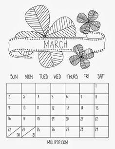 Free Printable Calendar by Molipop