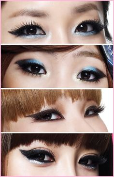 Some gorgeous pop Korean look.  Perfect for monolids.
