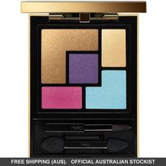 5 color couture palette by Yves Saint Laurent. Yves Saint Laurent 5 Color Couture Palette is filled with ready-to-wear eyeshadows with intense c. Metallic Eyeshadow Palette, Matte Eyeshadow, Eye Palette, Makeup Palette, Glow Palette, Cream Eyeshadow, Ysl Beauty, Beauty Makeup, Eye Makeup
