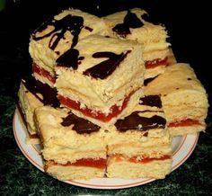 Prajitura cu umplutura de mere si crema de vanilie este nemaipomenit de savuroasa. Merele rase combinate cu sucul de cirese si crema de vanilie creeaza un desert fabulos. Ingrediente Prajitura cu umplutura de mere si crema de vanilie: Foile: 600 grame faina 3 oua 250 grame margarina 2 lingurite praf Romanian Desserts, Traditional Cakes, Cheesecake, Chocolate Desserts, Tiramisu, Sweet Treats, Food And Drink, Sweets, Cookies