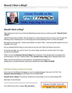 Should I Start a Blog? Document Sharing, How To Start A Blog, Marketing, Learning, Study, Teaching, Studying, Education
