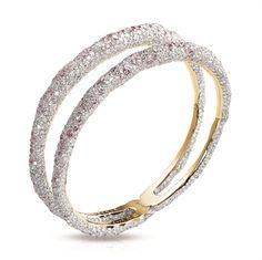 Diamond Bangle Bracelet - Fabergé Charmeuse Rose Bangle