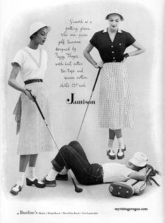 Stylish Jamison golf/sportswear styles from 1950 (modeled by Jean Patchett)