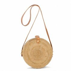 NEW Bohemian Straw Bags for Women Small Circle Beach Handbags Summer... ($15) ❤ liked on Polyvore featuring bags, handbags, shoulder bags, boho shoulder bag, straw handbags, purses crossbody, crossbody purse and cross-body handbag