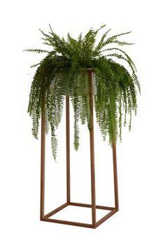 14 suportes para ter plantas dentro de casa (Foto: Divulgação) Steel Fabrication, Welcome To The Jungle, Terrazzo, Plant Decor, Feng Shui, Flower Power, Greenery, Furniture Design, Planters