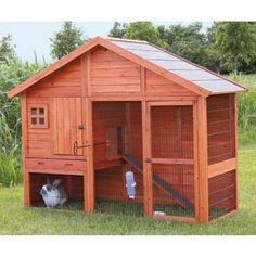 Small Animal Hutch with Gabled Roof is ideal for groups of small animals such as rabbits and guinea pigs. The unique roof lines and upstairs window make it a charming addition to any landscape. The non-slip ramp allows your pets to roam inside and outside, upstairs and downstairs, in the sun or in the shade for ideal comfort. #teelieturner #animalhitch #wayfair #teelieturernshoppingnetwork   www.teelieturner.com