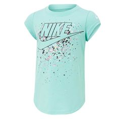 Nike Girls Futura Waterfall Tee | Rebel Sport Nikes Girl, Sports Brands, Rebel, Under Armour, Chloe, Kids Outfits, Waterfall, Cotton Fabric, Birthday