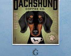 Dachshund Coffee Company Long Dog Roast artwork original