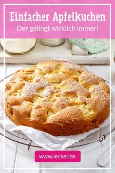 All Time Easy Cake : simple apple cake, Apple Pie Recipe Easy, Easy Vanilla Cake Recipe, Apple Pie Recipes, Easy Cake Recipes, Baking Recipes, Dessert Recipes, Desserts, Food Cakes, Dairy Free Chocolate Cake