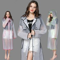 EVA Fashion Cloak Transparent Raincoat poncho Women Men waterproof Long Rain Coat Ponchos Jacket Chubasqueros Impermeables