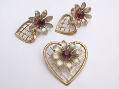 Antique jewelry vintage 1940's Bugbee and Niles by ShoponSherman,