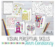 Occupational Therapy resources that address visual perceptual form constancy skills.