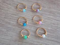 Opal cartilage earring helix earring tragus by sofisjewelryshop Nose Piercing Jewelry, Cute Ear Piercings, Ear Jewelry, Body Jewelry, Helix Earrings, Cartilage Earrings, Stud Earrings, Cartilage Piercing Hoop, Golden Earrings