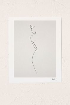 Slide View: 1: Quibe One Line Nude Art Print