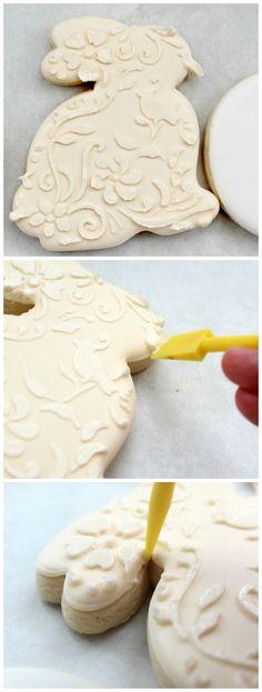 Vintage Floral Bunny Cookies