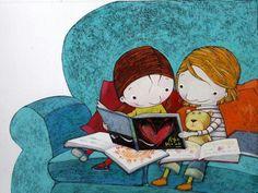 Tobella illustration ~ Reading Together
