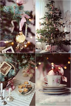 nelly vintage home: Christmas~ Love all the pink!