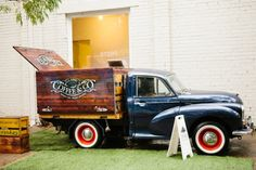 Classic Coffee & Co., Melboune. Vintage truck with a rustic timber box tray fit out.