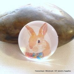 Rabbit Handmade Photo Cabochons by yooounique on Etsy
