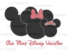 Our First Disney Vacation -  Mickey, Minnie and family - DISNEY PRINTABLES - Perfect for family T-shirt iron on - Digital file