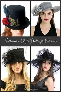 Victorian-Style Hats for Women
