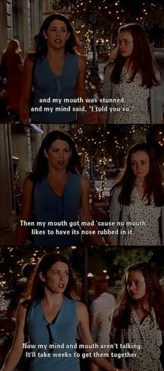 charming life pattern: gilmore girls - quote - my mouth - my mind and my ...