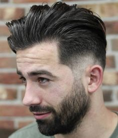 Men's+Long+Top+Short+Sides+Hairstyle