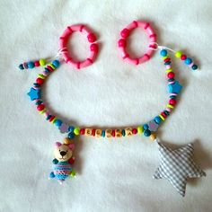 Kinderwagenkette Sternchen Monster, Crochet Necklace, Kids Wagon, Sterne, Handmade, Crochet Collar