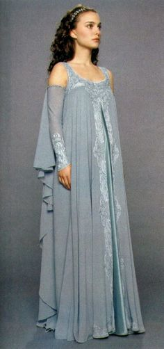 adore the blue color and other hues of this saturation (pale, unsaturated, romantic, subtle). (Star Wars Padme Aqua Dress - Front to side view)
