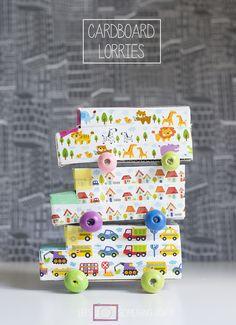 Cardboard Crafts: Lorries -