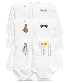 Check this out! CONSCIOUS. Long-sleeved bodysuits in soft, organic cotton jersey with snap fasteners at gusset. - Visit hm.com to see more.