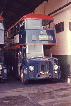 LEYLAND - Accrington 154. Bought 1960, sold 1975. 59 seats, rear door.                                                                                                                                                                                 More
