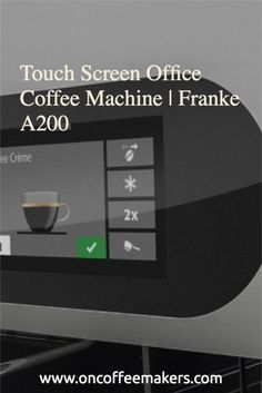 Coffee Machine for Office pantry. Office workers simply want a good cup of coffee, a push-button operation, and the touch screen with PID makes it simple to use and intuitive. Best Coffee Brewer, Best Coffee Maker, Espresso Coffee, Coffee Art, Coffee Cups, Pantry Office, My Coffee Shop, Automatic Espresso Machine, Coffee Equipment