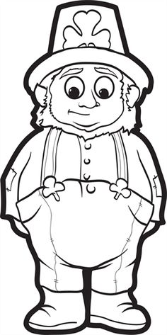 Chubby Leprechaun St Patricks Day Coloring Page For Kids Its Free And Printable