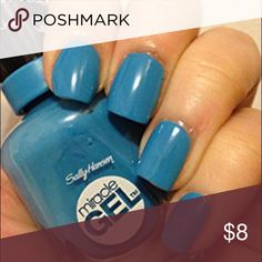 "Sally Hansen miracle gel Sally Hansen Miracle Gel Nail Polish ""170-SWIMSICAL""  Miracle Nail Gel provides a plump salon gel-look without the salon price.  Up to 7 days of intense color and shine.    Spectacular gel-like shine and plumpness.    Removes easily. Sephora Other"