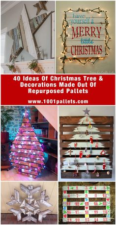 Why spend a lot of cash on your Christmas decorations when you don't have to? Instead, why not get the family together and use discarded wooden pallets?