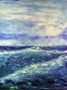 바다 Picture Source, Great Artists, Street Art, Future, Drawings, Fabric, Blue, Painting, Color