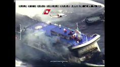 Traghetto in Fiamme Norman Atlantic Incendio a Bordo - Elicottero