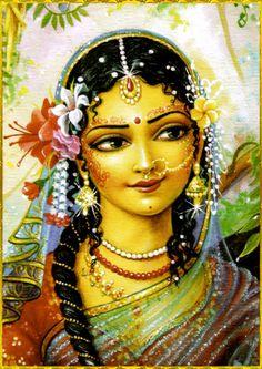 "♥•~SHRI RADHA~•♥ ""O queen of Vrindavan, the forest of happiness, O queen of Vraja, O empress of Vraja, O Sri Radhika, obeisances to You!""~Sri Radha-Kripa-Kataksa-Stava-Raja"
