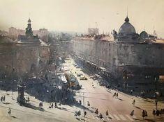 `Stories from Resavska street` by Djukaric Dusan Watercolor Artists, Watercolor Landscape, Artist Painting, Watercolor Paintings, Watercolors, Art Aquarelle, Building Drawing, Amazing Drawings, Nature Paintings